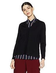 Monte Carlo Womens Wool Cardigan (1170709VN-118-38_Black)