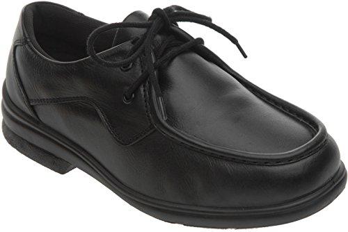 Cosyfeet Max Schuhe - Besonders geräumig / Extra Roomy (breite Passform M+ Euro / HH+ Width Fitting UK) - Schwarz, Leder - 43 (Breite Schuh Width Fuß)