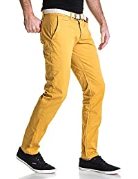 BLZ jeans - Pantalon chino 5 poches homme moutarde