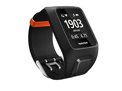 TomTom Adventurer - Reloj Deportivo, 3 GB, GPS, Pulsómetro Integrado, Más de 500 Canciones, Modo Multisport, Bluetooth Smart, 143-206 mm, Color Negro