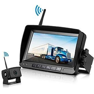 Tuo3eu-FHD-1080P-Digital-Wireless-Backup-Camera-Kit-mit-IP65-WasserdichtDrahtlos-Rckfahrkamera-mit-18-IR-LEDs-Nachtsicht-7-Zoll-LCD-Monitor-Einparkhilfe-fr-KfzVanBusAnhnger
