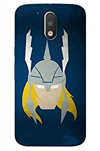 AMAN Comic King 3D Back Cover for Moto G4 Plus