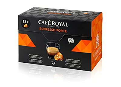 Café Royal Espresso Forte Coffee Pods Compatible with Nespresso System, 171 g, 33-Count from Delica AG