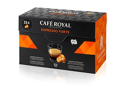 Café Royal Espresso Forte 33 Kapseln, 33 Nespresso kompatible Kapseln, 1er Pack...