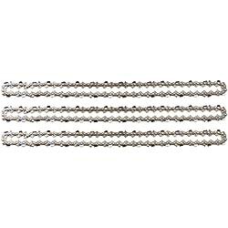 """3 tallox Chaînes de tronçonneuses à demi-gouges .325"""" 1,3 mm 64 maillons longueur de guide-chaîne 38 cm compatible avec DOLMAR HUSQVARNA"""