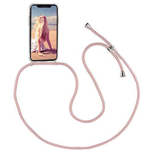 Imikoko Handykette Hülle für iPhone XR Necklace Hülle mit Kordel zum Umhängen Silikon Handy Schutzhülle mit Band - Schnur mit Case zum umhängen