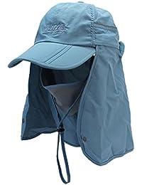 Sumolux Sombreros Gorros de Pesca Pescador 360°Protección contra Sol Casquillo UV para Hombres Mujeres Senderismo