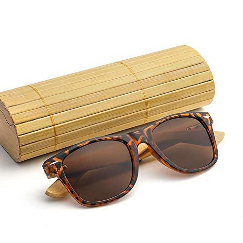 tingtin Die Sonnenbrille UV Schutzreiseferienferien der Retro Art und Weisebambusrahmen klassischen Farbfilm der Frauen zusammenpassende Feriengeschenke Sonnenbrillen für Männer und Frauen