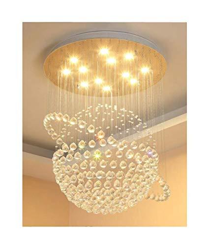 LED Moderne Cristal pendante - Eau de K9 Maison Salon Chambre Restaurant Lustre/éclairage (Taille: 50 * 70cm)