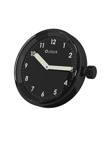 Fullspot O clock Cassa Numeri Nero  MEC.NSN - Orologio da polso Unisex