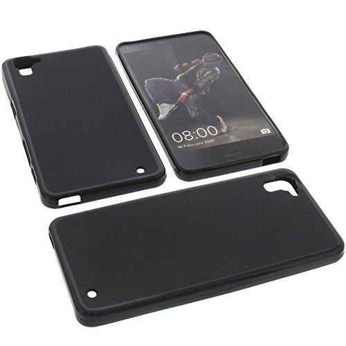 foto-kontor Tasche für Hisense Rock C30 Gummi TPU Schutz Handytasche schwarz