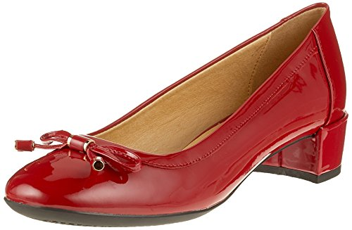 Geox D Carey D, Scarpe con Tacco Donna Rosso (Red)