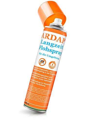 ARDAP Langzeit Flohspray – Mittel zur gezielten Bekämpfung von Flöhen, Zecken, Milben und Läusen für die Umgebung - für bis zu 6 Monate Schutz – 1 x 400 ml