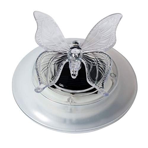 Homyl Schwimmende Schmetterling/Libelle Solarlampe Poolbeleuchtung für den Garten, Schwimmbecken,Teich Deko, Wasserdicht - Schmetterling
