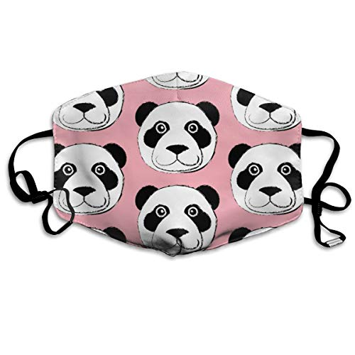 Anti-Staub-Maske mit Pandabär-Gesicht, waschbar, wiederverwendbar, ()