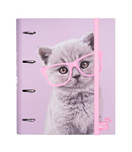 Erik Studio Pets Cats - Archivador 4 anillas tapa