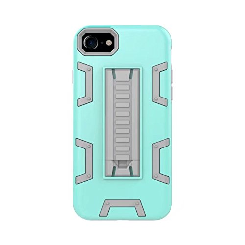 iPhone 8 Hülle, Lantier [Robot Series] Slim Armor Fit Dual Layer Hybrid Protective Case Advanced Shock Absorption Protection High Impact Resistant Hybrid Case with Kickstand für Apple iPhone 8 Grau Grün