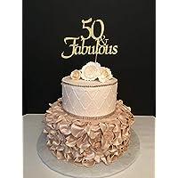 Amazon It Compleanno 50 Anni Topper Per Torte Utensili Decorativi