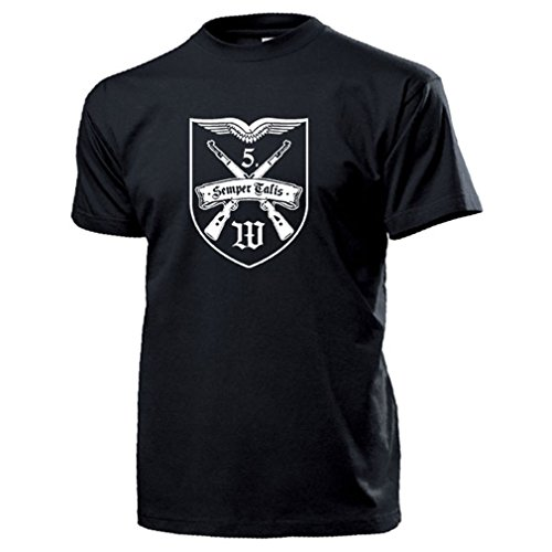 USMC Marine Raiders United States Marine Corps Logo Wappen - T Shirt #16290, Farbe:Schwarz, Größe:Herren M -