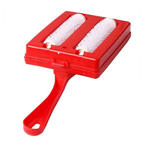 Double brosse, miettes multifonction portatif Balai de table pour canapé/Tapis/Pet Brosse à cheveux, couleur aléatoire Lionina