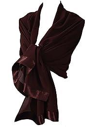 Etole écharpe chale en mousseline et satin idéal cérémonie soirée
