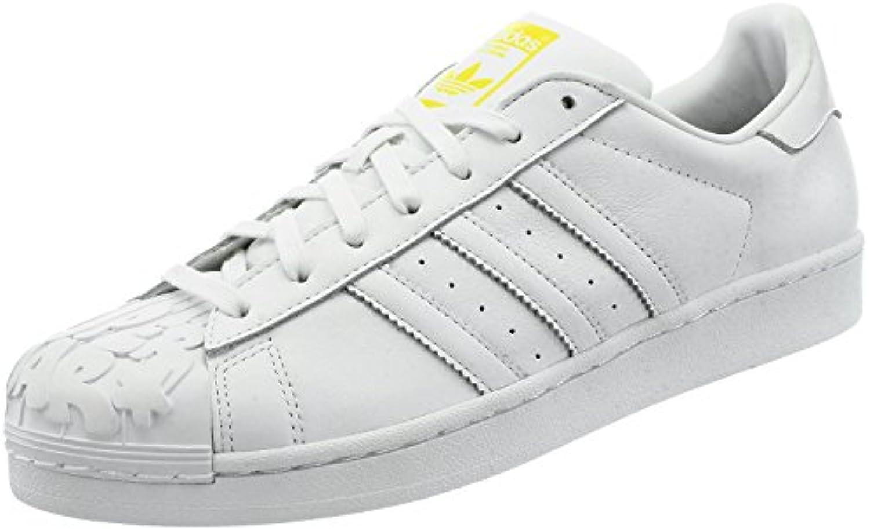Adidas Originals SUPERSTAR PHARRELL Weiss Leder Unsiex Sneakers Schuhe Neu