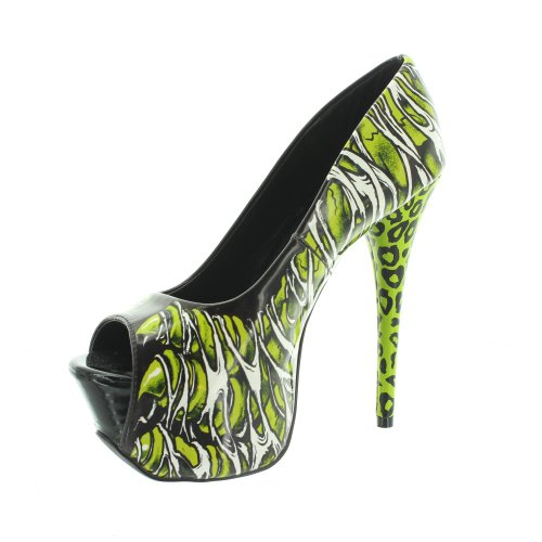 Too Fast Brand Shzo-zomfoot, Chaussures Mi-longues Pour Femmes Green (vert)