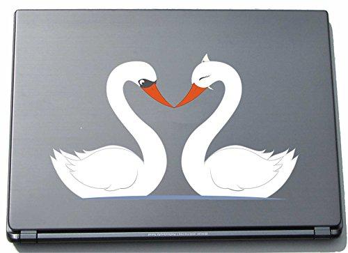 laptopaufkleber-laptopskin-lovely019-susse-herzen-zwei-schwane-liebe-machen-210-mm-aufkleber