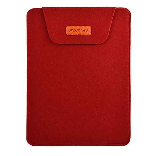 Generic Wool Felt Home PC Universal Protective Skin Notebook Sleeve Case Red for 15.6 Inch Laptop
