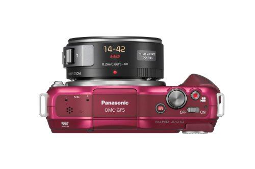 Panasonic Lumix DMC-GF5XEG-R Systemkamera (12 Megapixel, 7,5 cm (3 Zoll) Touchscreen, Full HD Video, bildstabilisiert) inkl. Lumix G Vario 14-42 mm Objektiv rot - 3