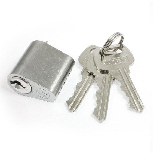 Sourcingmap a12110600ux0702 - colore argento vite a croce sicurezza chiavetta blocco cilindro chiave w 3 chiavi