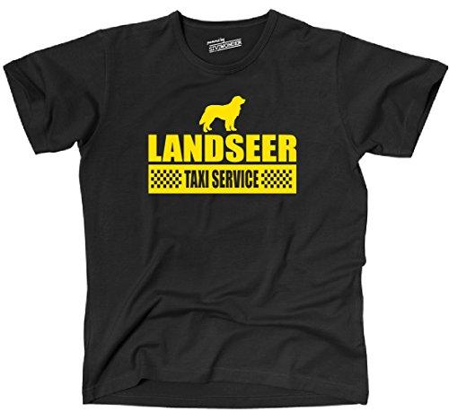 Siviwonder Unisex T-Shirt LANDSEER Taxi Service Hund Hunde lustig fun Schwarz