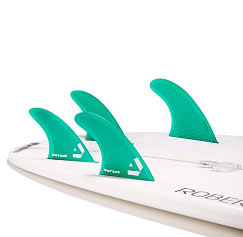DORSAL® Surfboard Fins Hexcore Quad Set (4) Honeycomb FUT Base Green