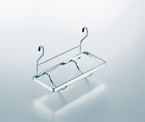 KESSEBÖHMER Linero 16 mm Papierrollenhalter/ Relingsysteme / Chrom - Chrom Papierrollenhalter