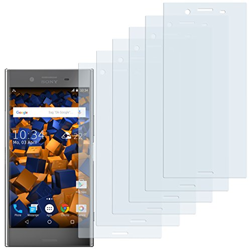 mumbi Schutzfolie kompatibel mit Sony Xperia XZ Premium Folie klar, Bildschirmschutzfolie (6x)