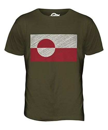 CandyMix Grönland Kritzelte Flagge Herren T Shirt Khaki Grün