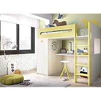 Ambiato Kinderzimmer Hochbett Jump 306 Mit Holzleiter Und Integrierten Schreibtisch Kleiderschrank
