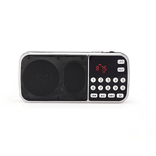 Richer-R Radio FM,Altavoz Portátil,Reproductor Música de Audio,Apoyo Tarjeta TF/Disco U/MP3.Compatible con Teléfonos...