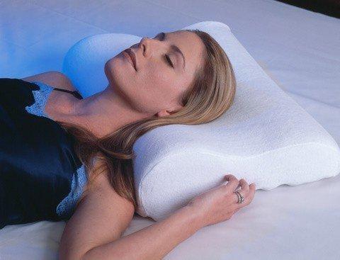 PREMIUM Hochwertiges Memoryschaum Kissen - Nackenstützkissen aus thermoaktivem Schaumstoff - Formschaum Memory Schaum Nackenkissen Nackenstütze Kopfkissen Gesundheitskissen