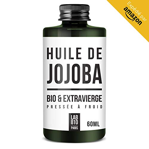 JOJOBA BIO OIL 100% Pure and Natural, Cold Pressed & Extra Virgin - Antioxidant Benefits - Nourishes and Stimulates Hair Growth - Moisturizes and Soothes the Skin (60ml)