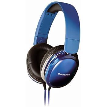 Panasonic RP-HX350ME Blue Over-Ear Headphones w/Mic for iPod/MP3player/Mobiles