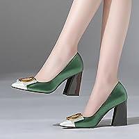 Jqdyl High Heels Frauen Single Schuhe Spitze Rough mit Casual Fahren Jahreszeiten Frauen