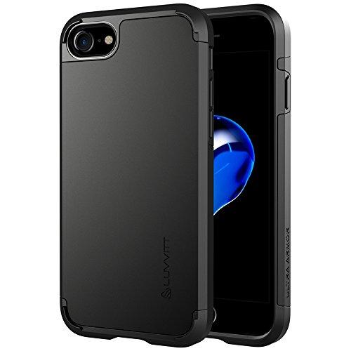 iPhone 7étui, luvvitt [Ultra Armor] absorption des chocs Coque Best Coque rigide double couche ultra résistante pour Apple iPhone 7-Noir