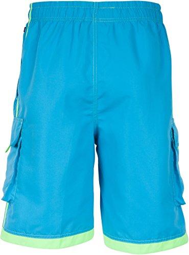 Sakkas Hommes Boardshort / Maillot de Bain Planche Patins Rayures Contrastées Bleu brillant