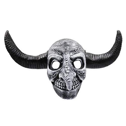Horner Kostüm Neuheit - Tensay Scary Animal Rinder Hörner Latex Maske Cosplay Helm Halloween Kostüm Neuheit Lustige Spielzeug Home Bar Party Dekoration