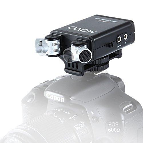Movo VXR280 Kamerahalterung Kondensator Stereo-Video-Mikrofon mit 90°-120° Einstellbare, direktionale Mik-Kapseln