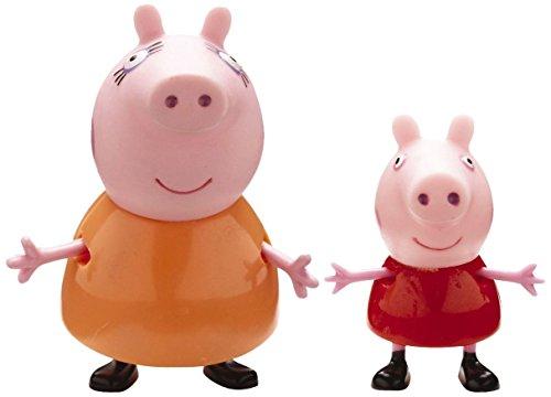 Giochi Preziosi Peppa Pig 2Stück (S) Orange, Pink, Rot Kinder/Mädchen–Figuren Spielzeug für Kinder (Orange, Pink, Rot, 2Jahr (E), Kinder/Mädchen, 100mm, 2Stück (S), Blister)