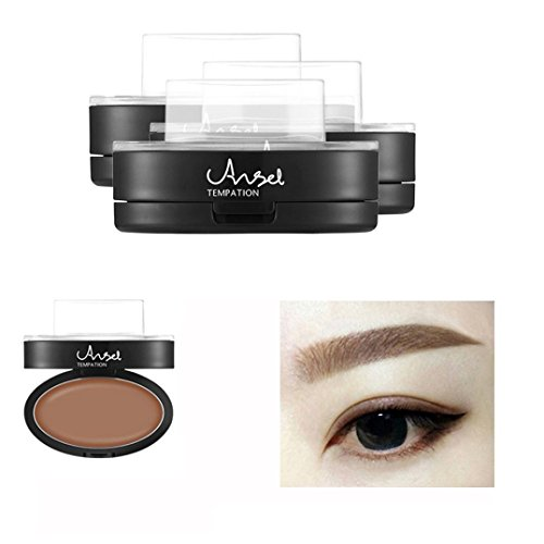 OverDose Brow Stempel Pulver Delicated Natürlich Perfect Enhancer Straight United Augenbraue Brow Stamp Powder Braun (Halloween Kostüm Make Up Männer)