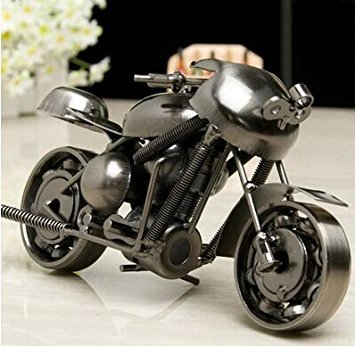 EQLEF® Eisen Motorrad Modell Kreative Motorrad Moderne Ornamente Fotografie Requisiten, Beste Geschenk für Freund (Typ1) -