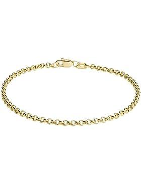Erbsarmband Rolo link 14 Karat / 585 Gelbgold Breite 2.70 mm